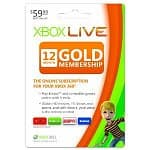 Xbox Live 12-Month Gold Membership Card or Online Code
