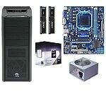 Gigabyte GA-78LMT-S2P AM3+ Micro ATX MOBO + Phenom II X4 945 3GHz Quad Core CPU + Thermaltake V9 Black Case + 8GB (2x4GB) Corsair XMS3 DDR3 1333 Ram + Coolmax 500W PSU