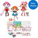 Lalaloopsy Paper Doll Fashion Bundle: Lalaloopsy Pickles B.L.T. Doll + Paper Doll Exclusive Accessories Super Set