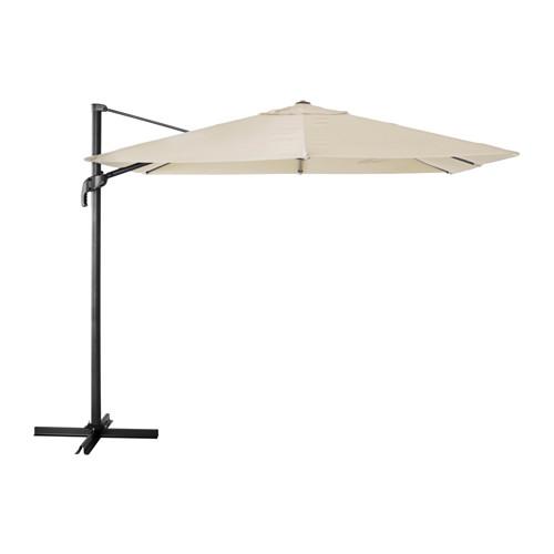 Ikea SeglarÖ 129 Folding Rectangular Outdoor Cantalever Umbrella 99 In Only