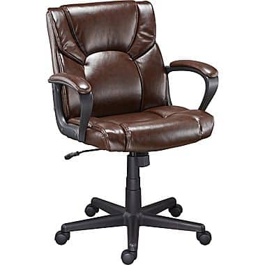 Awesome Staples Montessa II Luxura Managers Chair Brown Or Black   $49.99    Slickdeals.net