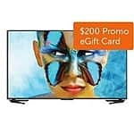 "50"" Sharp AQUOS 4K Ultra HD Smart TV 50UB30U LED HDTV + $200 Dell eGift Card for $797.99 FS"