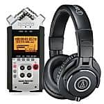 Zoom H4nSP Handy Mobile 4-Track Recorder + Audio-Technica ATH-M40x Professional Monitor Headphones $229.99 + Free Shipping