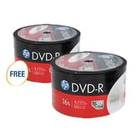 Newegg Deal: 2-Count of 50-Pack HP 4.7GB 16X DVD-R Disc