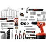 Walmart: Black & Decker 18-Volt NiCad Drill and 133 pieces Home Project Kit $50 + FS and In-Store Pick Up