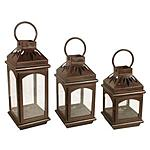 Patina Candle Lantern Set in Rust (3-Set) - $19.75 (75% off) @ Homedepot + Free Ship to Store