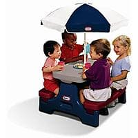 Walmart Deal: Little Tikes Easy Store Jr. Picnic Table With Umbrella - $23.93 & More  @ Walmart
