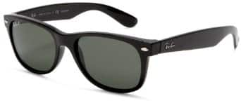 Ray-Ban RB2132 Polarized New Wayfarer Sunglasses,Black Frame/Polarized G-15 XLT 90 $90.83($72.66 w/ 20% off code)  Non Polarized $72.14($57.71 w/ 20% off code)  w/ FS @ Amazon
