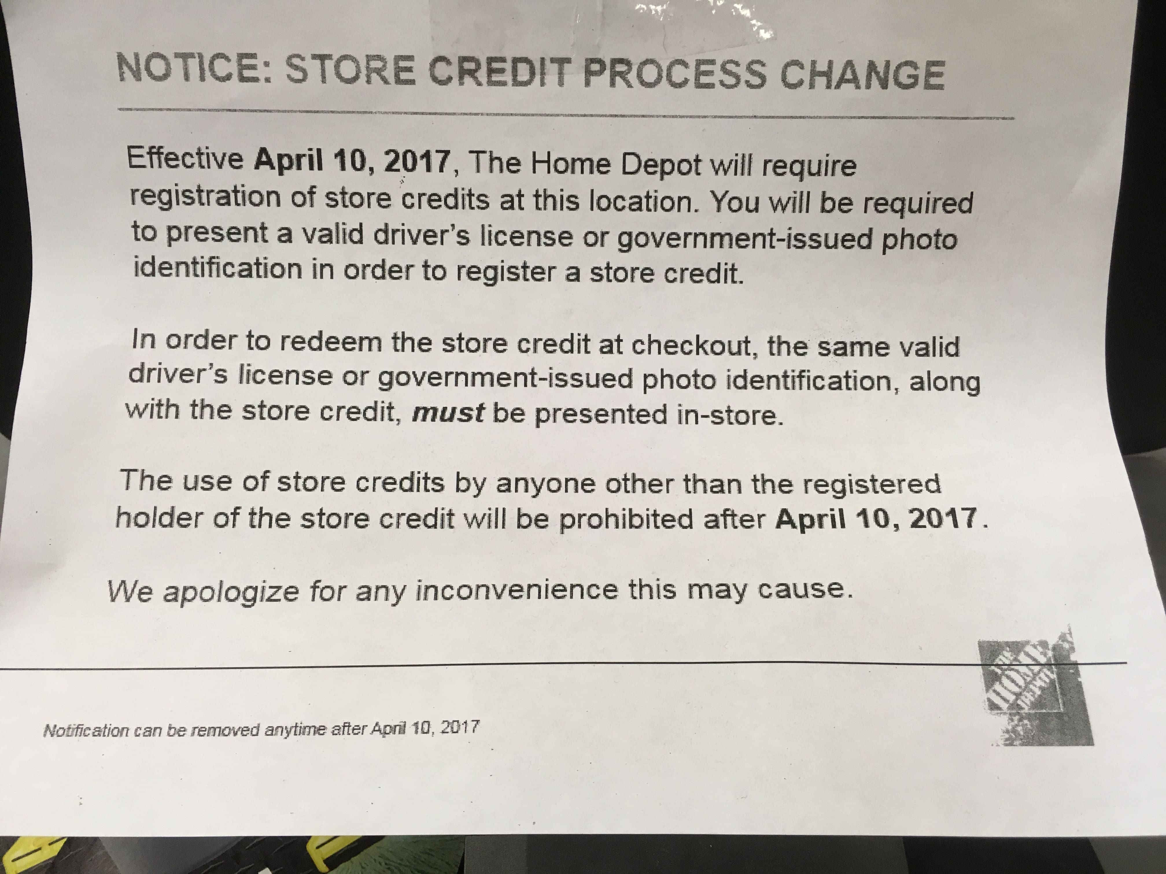Home Depot Store Credit Policy Change Page 4 Slickdeals
