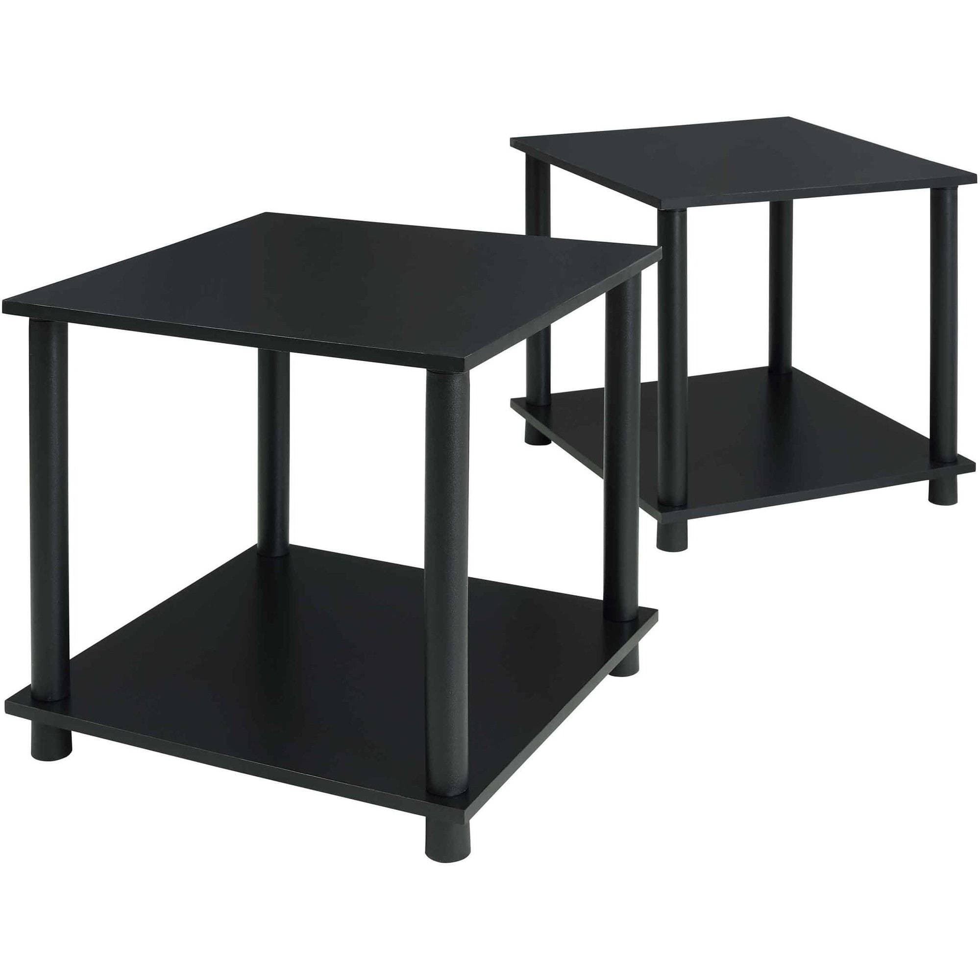 2 Pack Mainstays End Tables Black Slickdeals