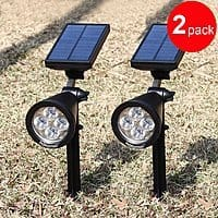 Amazon Deal: 200 Lumens Solar Wall Lights/In-ground Lights(2 PACK)$35.99 AC( $5 OFF) + FS @Amazon.com