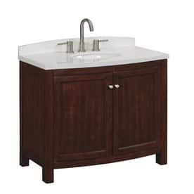 Superb allen roth Moravia Sable Undermount Single Sink Vanity with Engineered Stone Top was