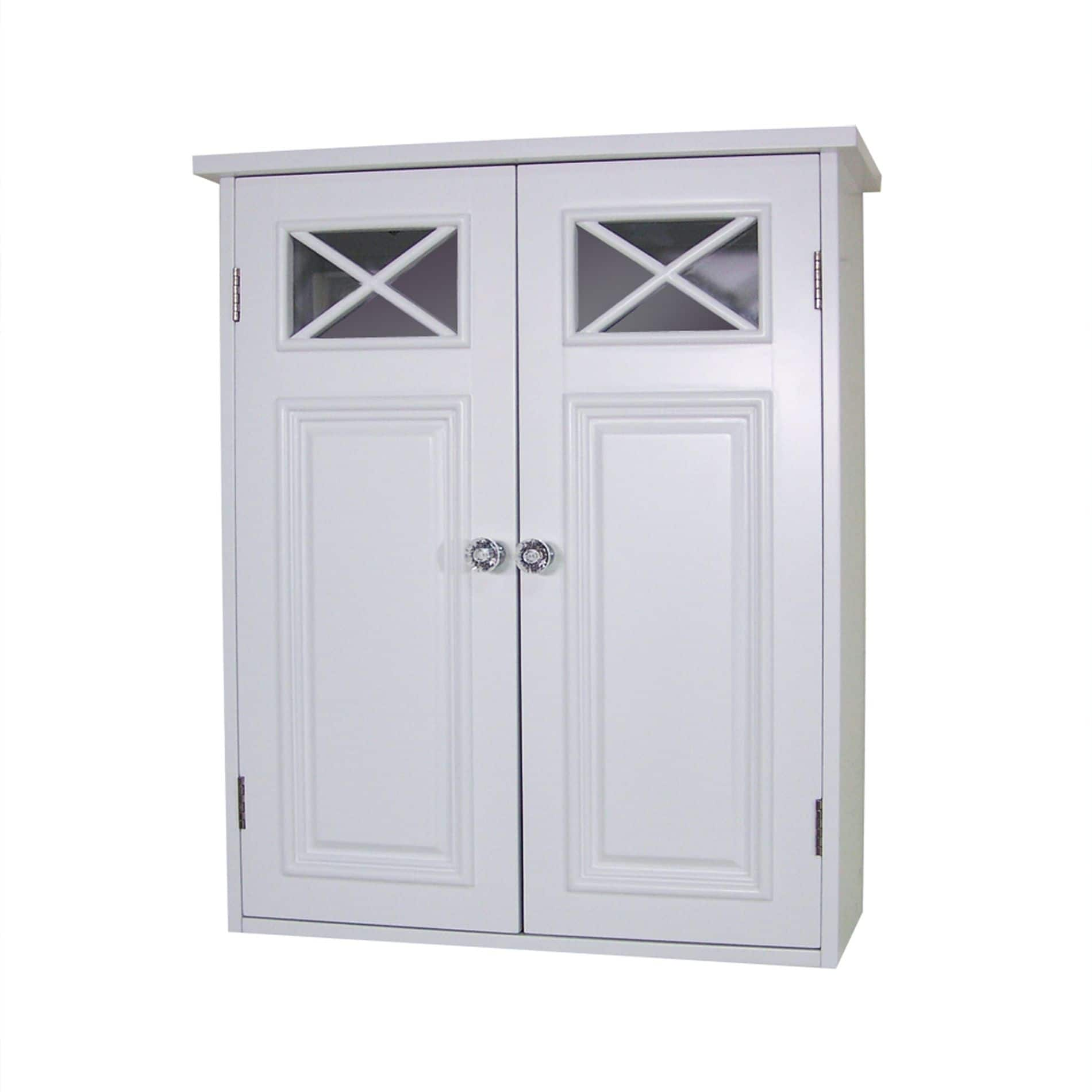 Fancy Target Elegant Home Fashions Dawson Bathroom Wall Cabinet White FS