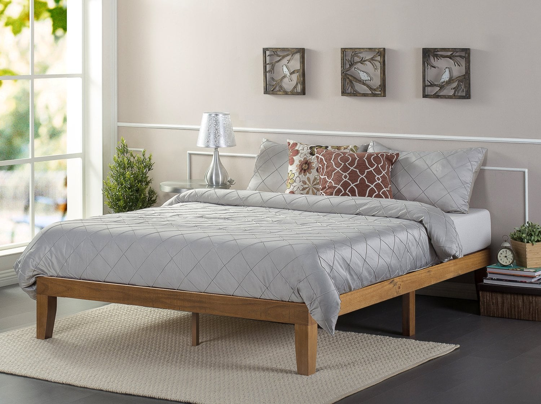 . Zinus 12  Wood Platform Bed  Queen    Slickdeals net