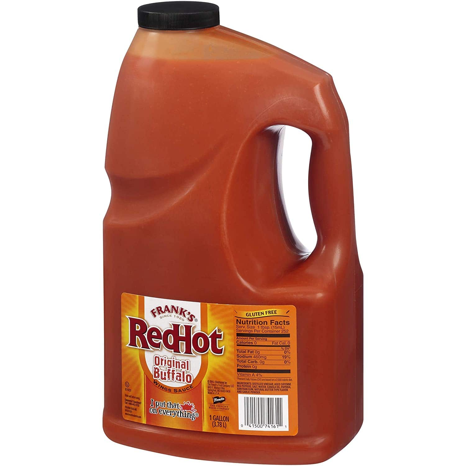 1 gallon Frank's RedHot Original Buffalo Wings Sauce: $11.38 or less w/S&S