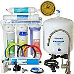 iSpring RCC7 - WQA GOLD SEAL - 5 Stages 75GPD Reverse Osmosis Water Filter System featuring Brushed Nickel EU Faucet ($45) $159 @ Amazon