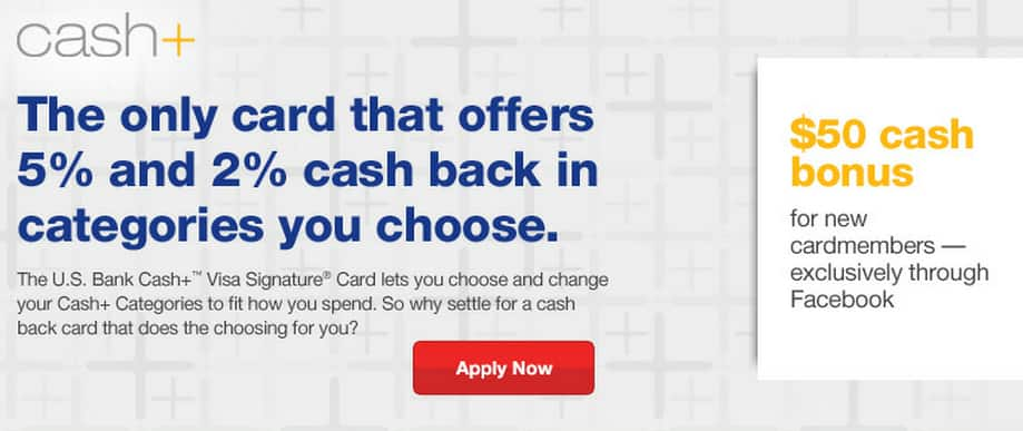 US Bank Credit card Choose your own two 5% cash back categories (even for airticket)