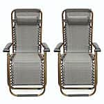 2-Pack of Zero Gravity Patio Lounge Chairs $60 + Free Shipping from eBay - 3 different colors
