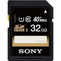 B&H Photo Video Deal: 32GB Sony Class 10 SDHC UHS-1 R40 Memory Card