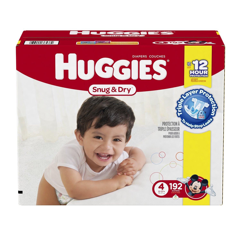 Amazon Family Members: Huggies Snug & Dry Diapers (various sizes ...