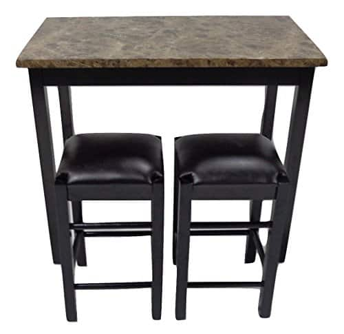 Great Pearington Piece Counter Height Table w Faux Marble Top Slickdeals net