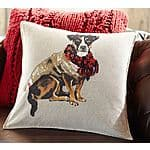 "Attention: Dog Lovers! Pottery Barn Painted Terrier 20"" Christmas Holiday pillow cover $8.49 + FS (Reg $49.50)"