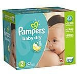 Pampers Baby Dry - Size 2 and 5 price drops + coupon. As low as $0.134 per diaper (size 2)