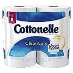 Cottonelle Clean Care Toilet Paper, Double Roll, 32 total Count - $13.96 or $13.16