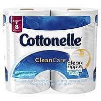 Amazon Deal: Cottonelle Clean Care Toilet Paper, Double Roll, 32 total Count - $13.96 or $13.16