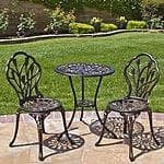 BestChoiceproducts Outdoor Patio Furniture Tulip Design Cast Aluminum Bistro Set in Antique Copper $114.95 + fs @sears.com