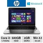 HP ProBook 450 Notebook PC w/ Intel Core i3 and 4GB RAM 500GB HDD $269.99 AR @ Tigerdirect