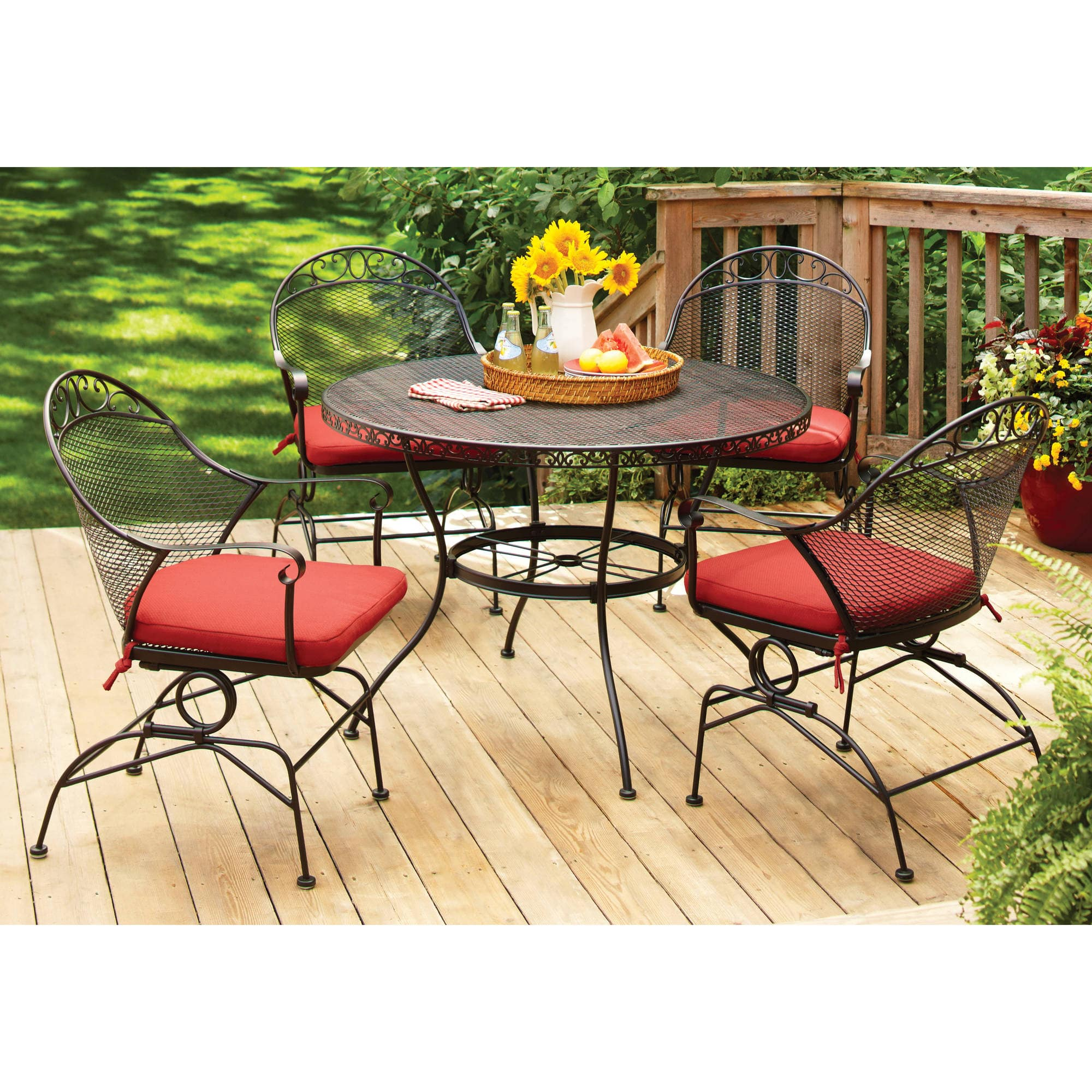 Nice Walmart Better Homes and Gardens Clayton Ct Piece Dining Set Red