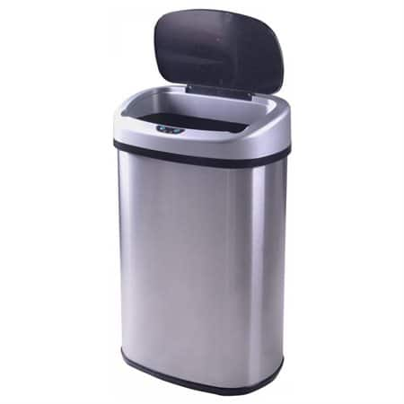 13gallon touchfree sensor automatic stainless steel trash can