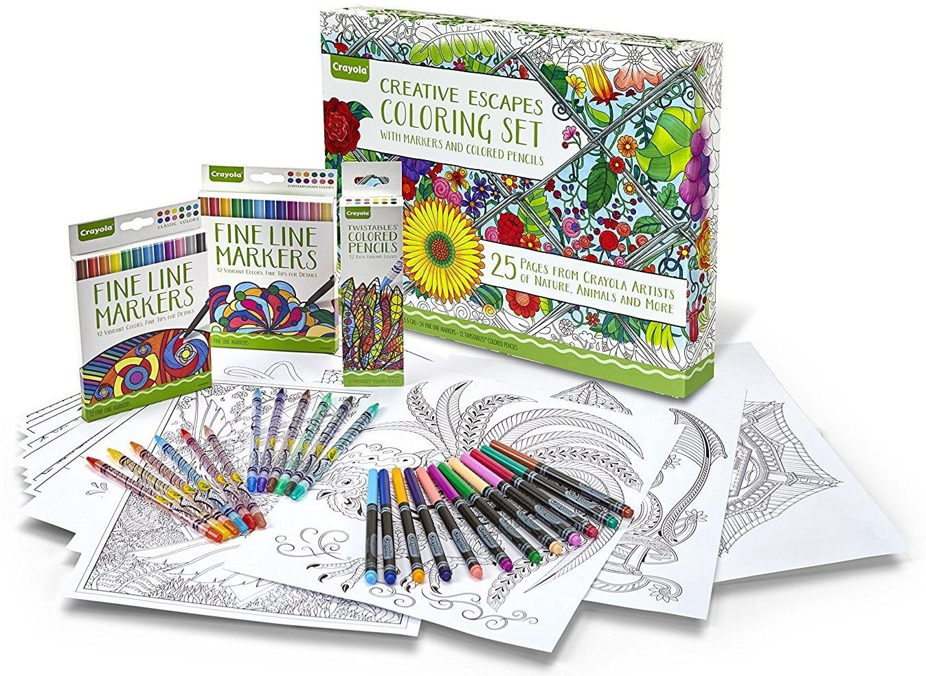 Add On Item Crayola Adult Coloring Book Marker Art Activity Set