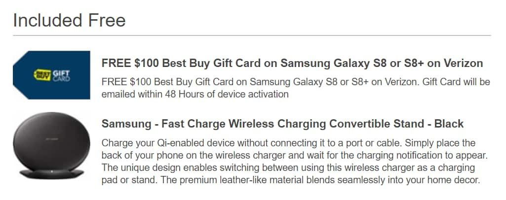 Samsung Galaxy S8 and S8+ - $100 Best Buy Gift Card + Wireless ...