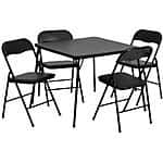 Amazon: Flash Furniture 5-Piece Folding Card Table and Chair Set $60