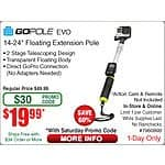 GOPOLE EVO - Floating Extension Pole for GoPro Hero Cameras - $20@Frys w/emailed code