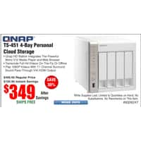 Frys Deal: QNAP 4 Bay NAS Server TS-451 $349, @Frys