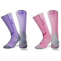 Rakuten (Buy.com) Deal: 2-Pack Thirty48 Athletic Compression Socks (Purple or Pink)