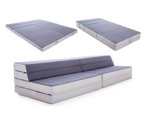 Best Lucid King Twin XL Convertible Folding Foam Mattress Sofa Slickdeals net