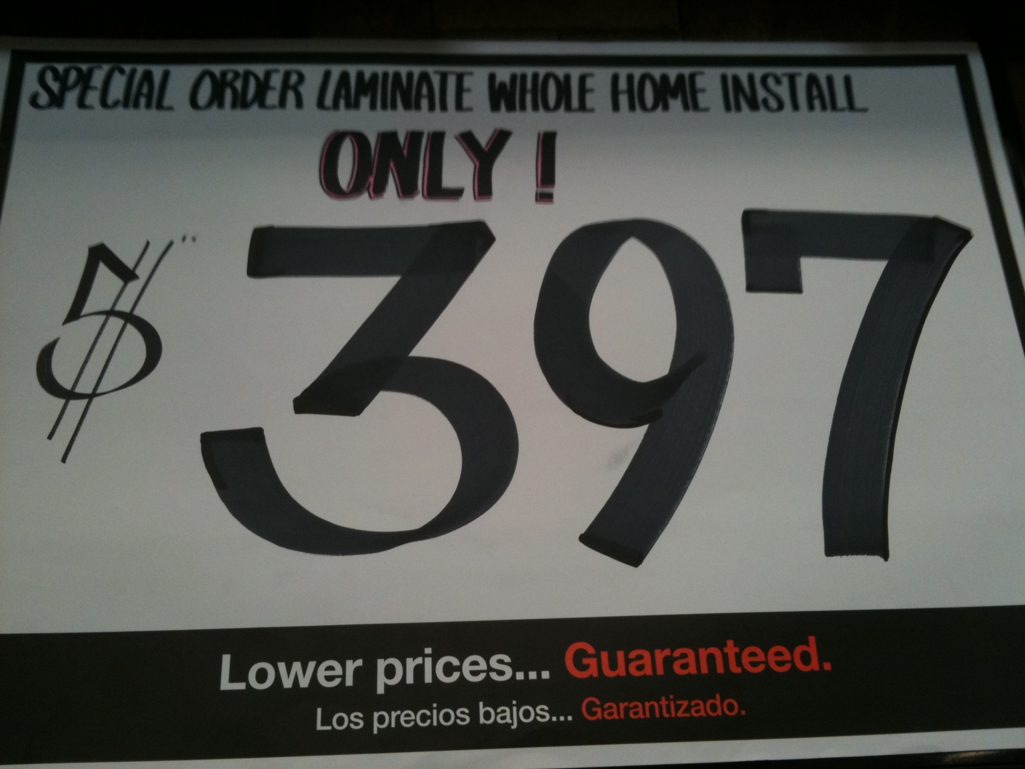 Whole house laminate installation at Home Depot Slickdeals