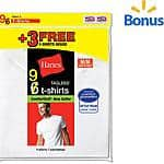 Hanes 9 pack comfort soft crew neck t shirts size medium for $12.46 - free ship over $35 at Walmart
