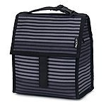 PackIt Freezable Lunch Bag with Zip Closure, Gray Stripe $15.28 + FSSS or Prime