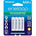 8-Pk Panasonic Eneloop AAA Ni-MH Pre-Charged Rechargeable Batteries $14.40 Or less + No Tax In Most States! @Jet.com