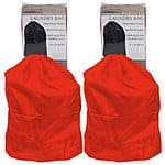 Set of 2 Heavy Duty Jumbo Sized Nylon Laundry Bag in Red for $8.99 + free shipping