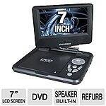Sylvania Portable DVD Player SDVD7027-C, 7-Inch, Swivel Screen, Black /purple - 39.99 - FS - amazon deal of the day