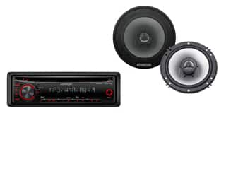 "Kenwood PKG-MP18 CD Receiver with a Pair of 6-1/2"" Coaxial Speakers Bundle $39 at walmart + .97 shipping"