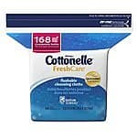 Cottonelle Fresh Care Flushable Cleansing Cloths Refill, 168 Cloths (Pack of 8) $13.71 or less
