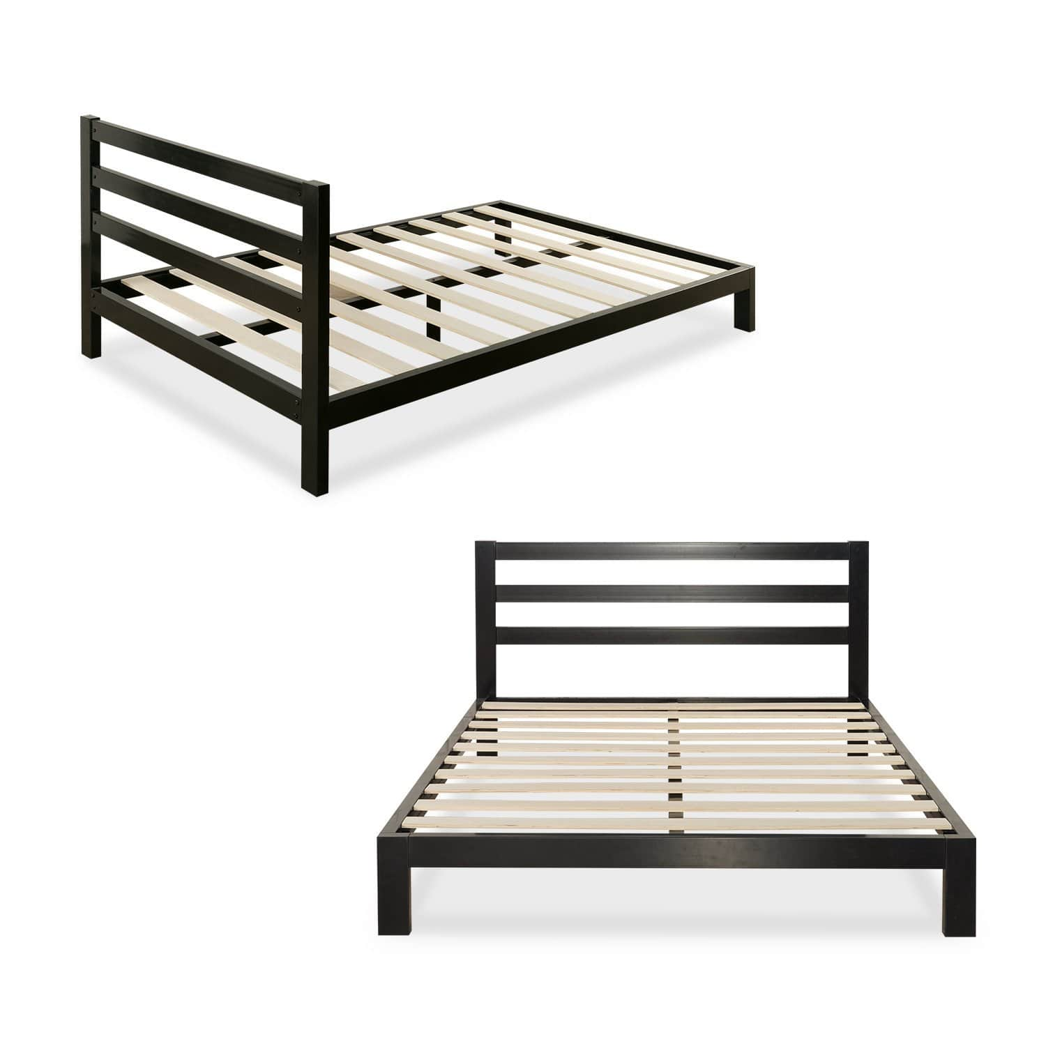 Fabulous Zinus Platform H Metal Bed Frame w Headboard Queen Slickdeals net