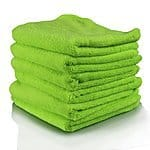 Chemical Guys MIC3336G El Gordo Professional Extra Thick Supra Microfiber Towels, Green - 16.5 in. x 16.5 in. (Pack of 6): $7.44